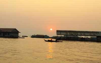 Tonle Sap Lake - Sunset time
