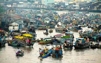 Mekong delta Cai Rang market