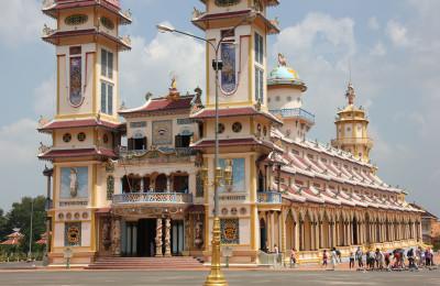 Cao Dai Temple in Tay Ninh Vietnam