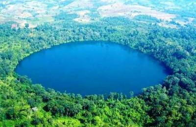Lake Yak Loum in Ratanakiri Cambodia